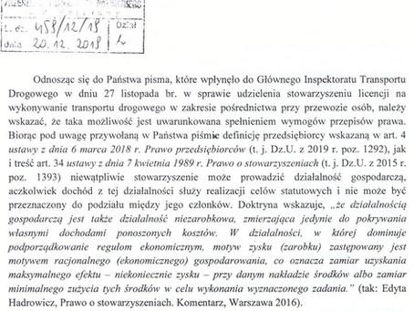 Licencja dla Pośrednika - Opinie Głównego Inspektoratu Transportu Drogowego