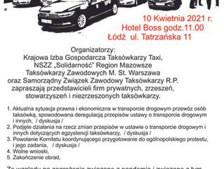 Spotkanie w Łodzi I Ogólnopolska Konferencja Taksówkarzy