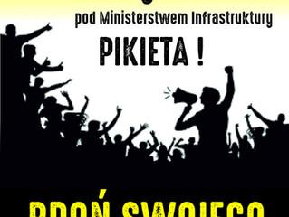 PIKIETA 5 marca pod Ministerstwem Infrastruktury