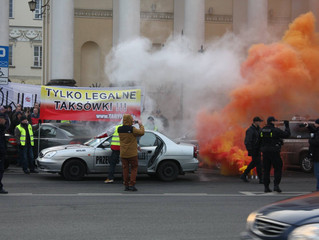 INFORMACJA O PROTEŚCIE TAKSÓWKARZY 18 Października!