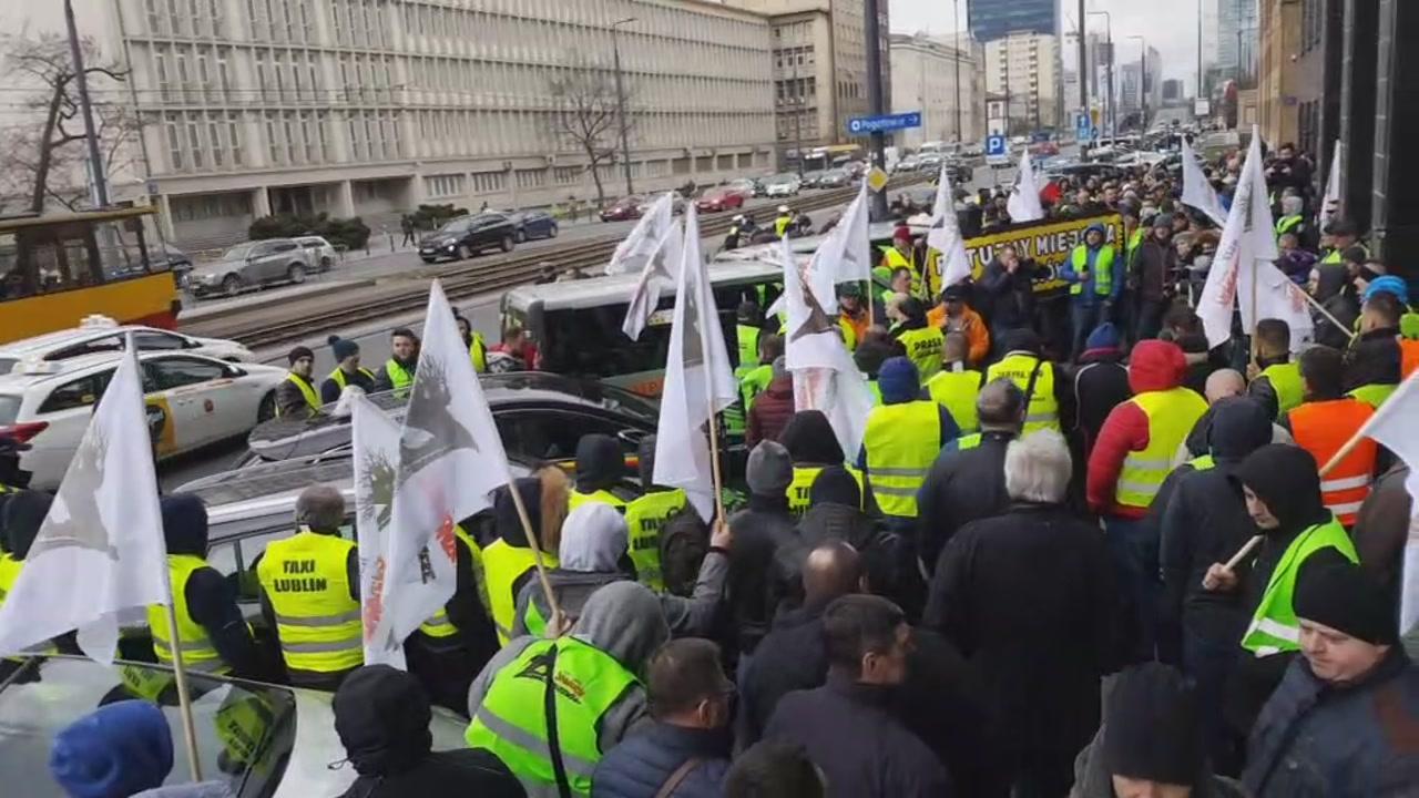 PROTEST TAKSÓWKARZY 5.03.19! NA ŻYWO, BEZ CENZURY!