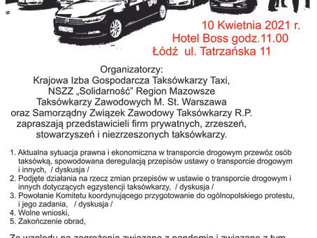 I Ogólnopolska Konferencja Taksówkarzy spotkanie w Łodzi