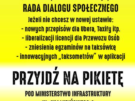 5 marca PIKIETA pod Ministerstwem Infrastruktury