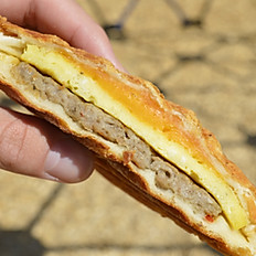 Grilled Sausage Egg Cheese Kolache