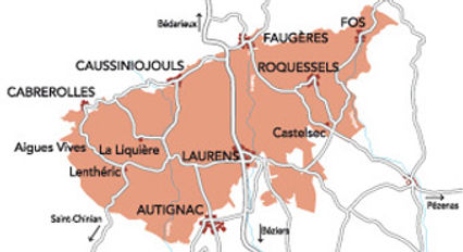 Carte AOC Faugères