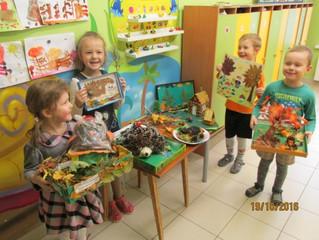 Совместные работы родителей и детей к празднику осени!