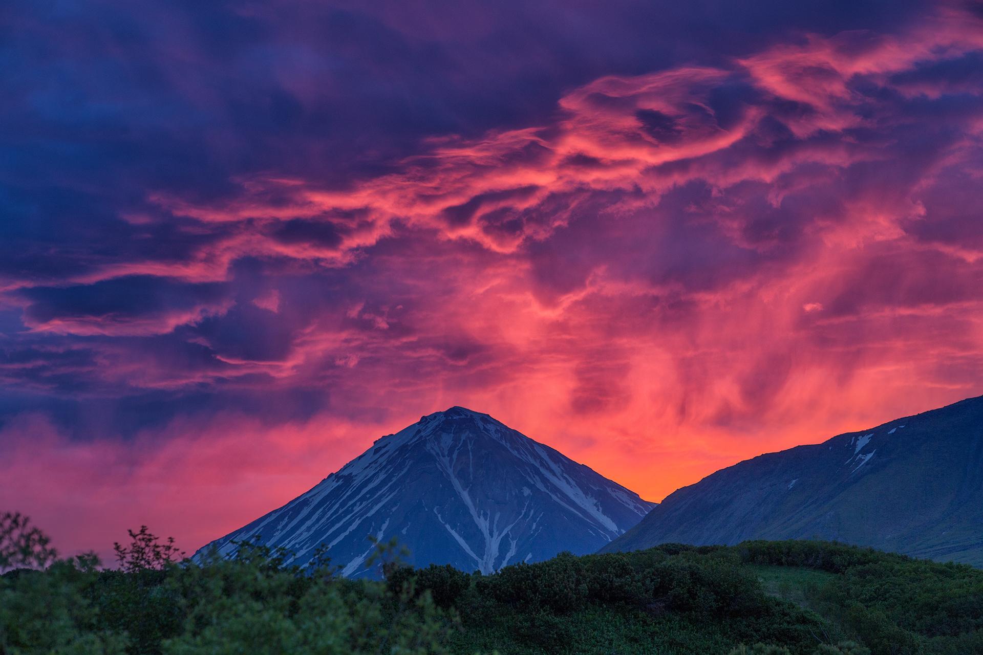 Пейзаж_Огненные закаты Камчатки