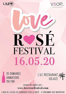 Affiche Love Rose festival LYon