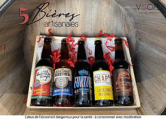 Coffret 5 bières artisanales