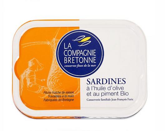 Sardines à l'huile d'olive et au piment Bio