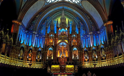 The Alter at The Notre Dame Basilica of Montrea