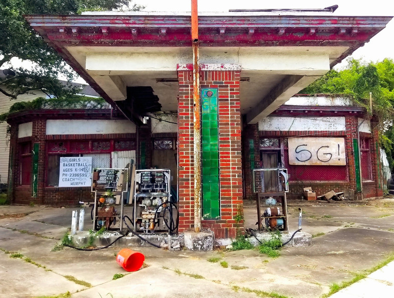 Abandoned gas station in New Orleans