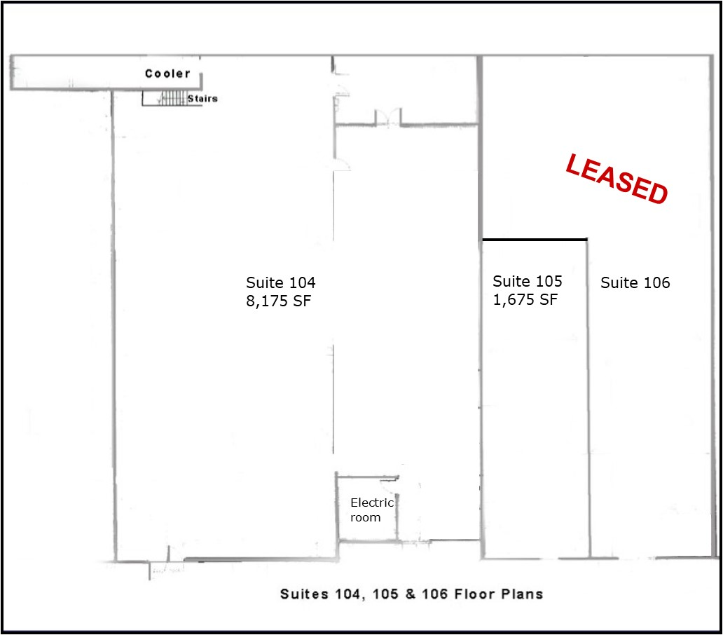 Floor Plan Suites 104, 105