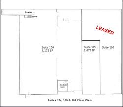 Floor Plan Suites 104, 105