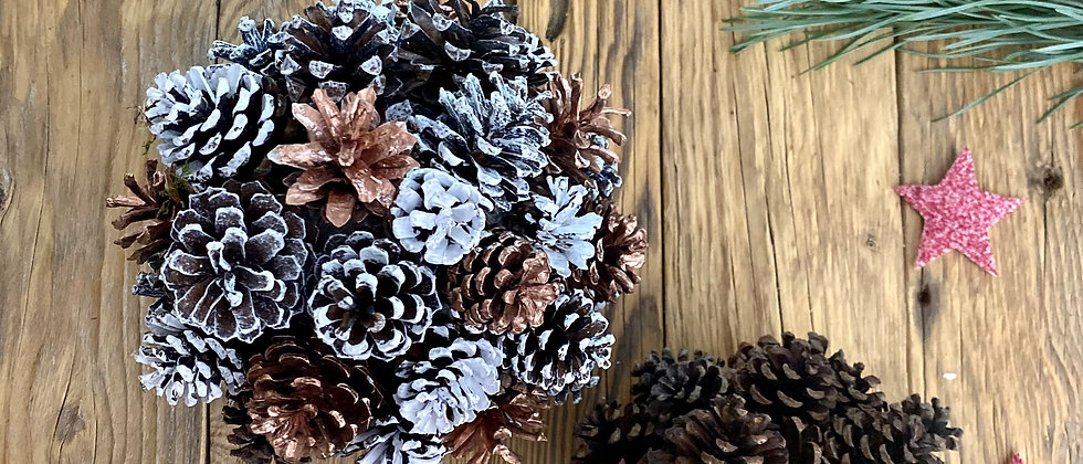 Bronze Pine Cone Decorations