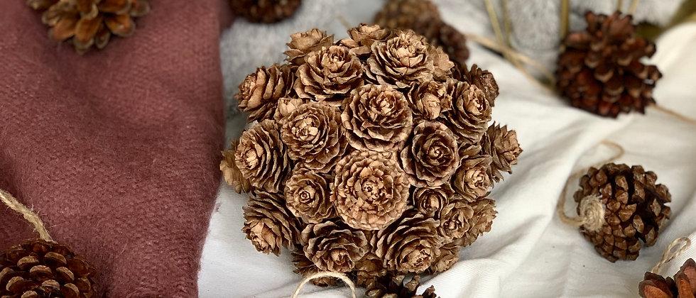 Natural Pine Cone Ball Decoration
