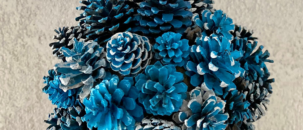 Blue Pine Cone Decorations
