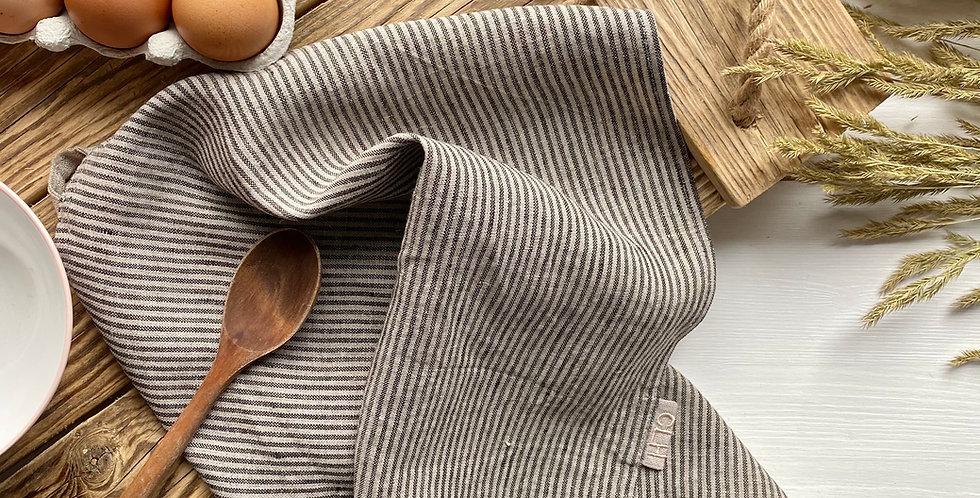 Striped Linen Tea Towel Set of 2