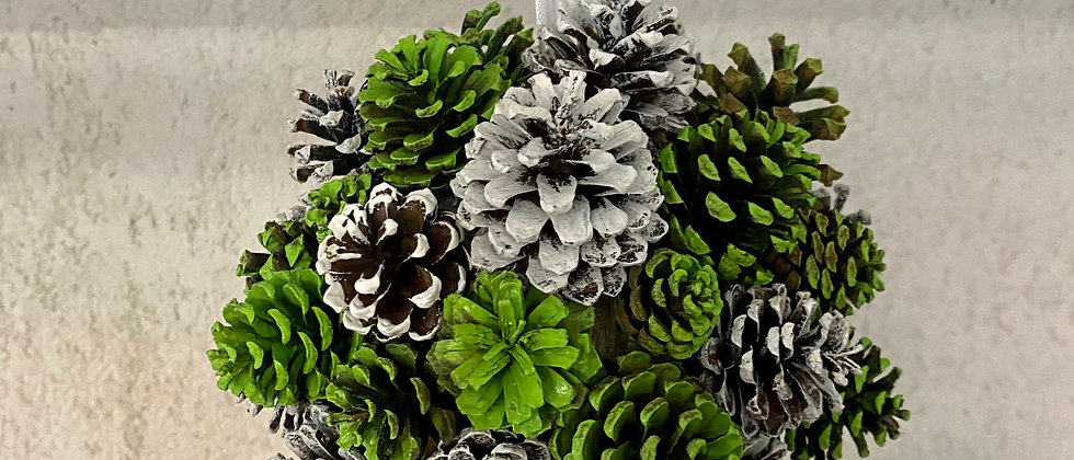 Green Pine Cone Decorations