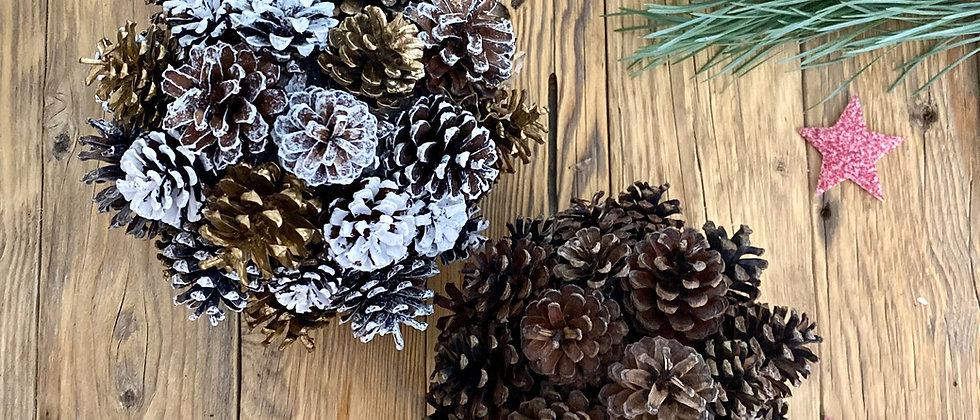 Golden Pine Cone Decorations
