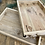 Thumbnail: Authentic Rustic Large Wooden Tray With Handles