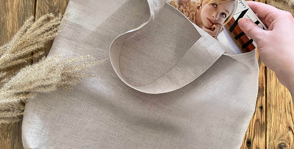 Natural Linen Tote Bags