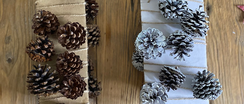 Natural Pine Cone Garland Decoration