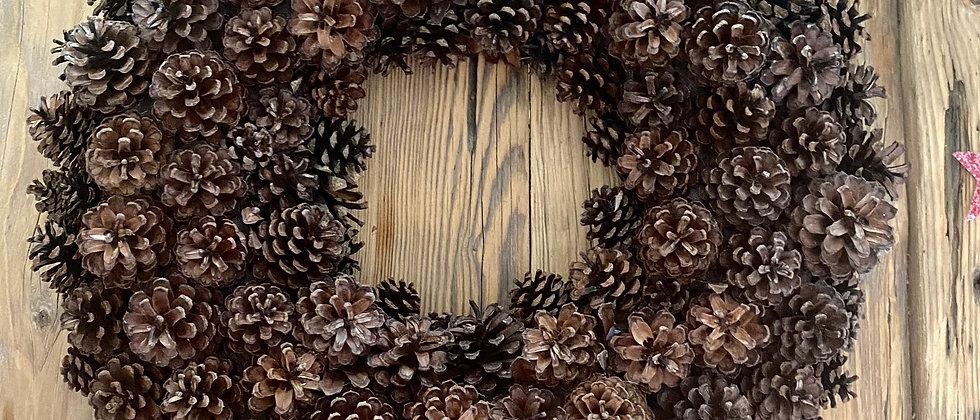 Natural Pine Cone Wreath