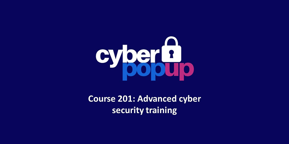 Cyber Pop-up Course 201: Advanced cyber security training
