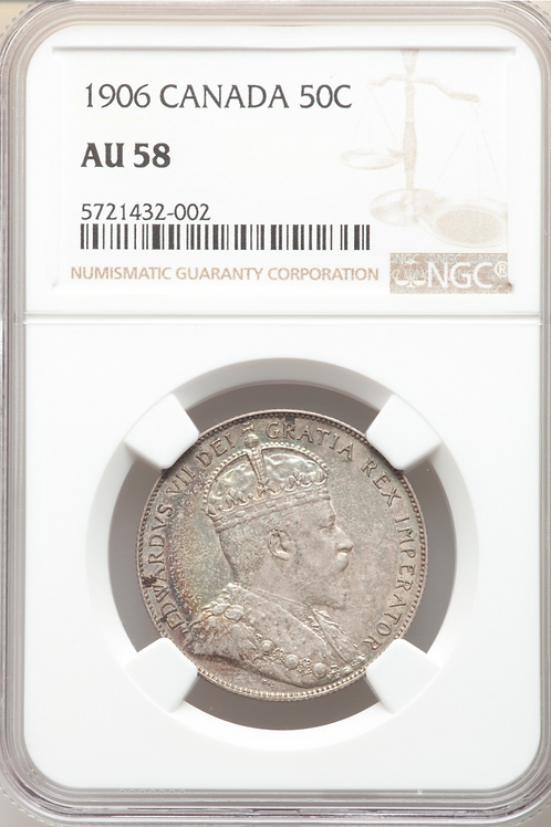 copy of Canada 1906 50 cents AU58 NGC