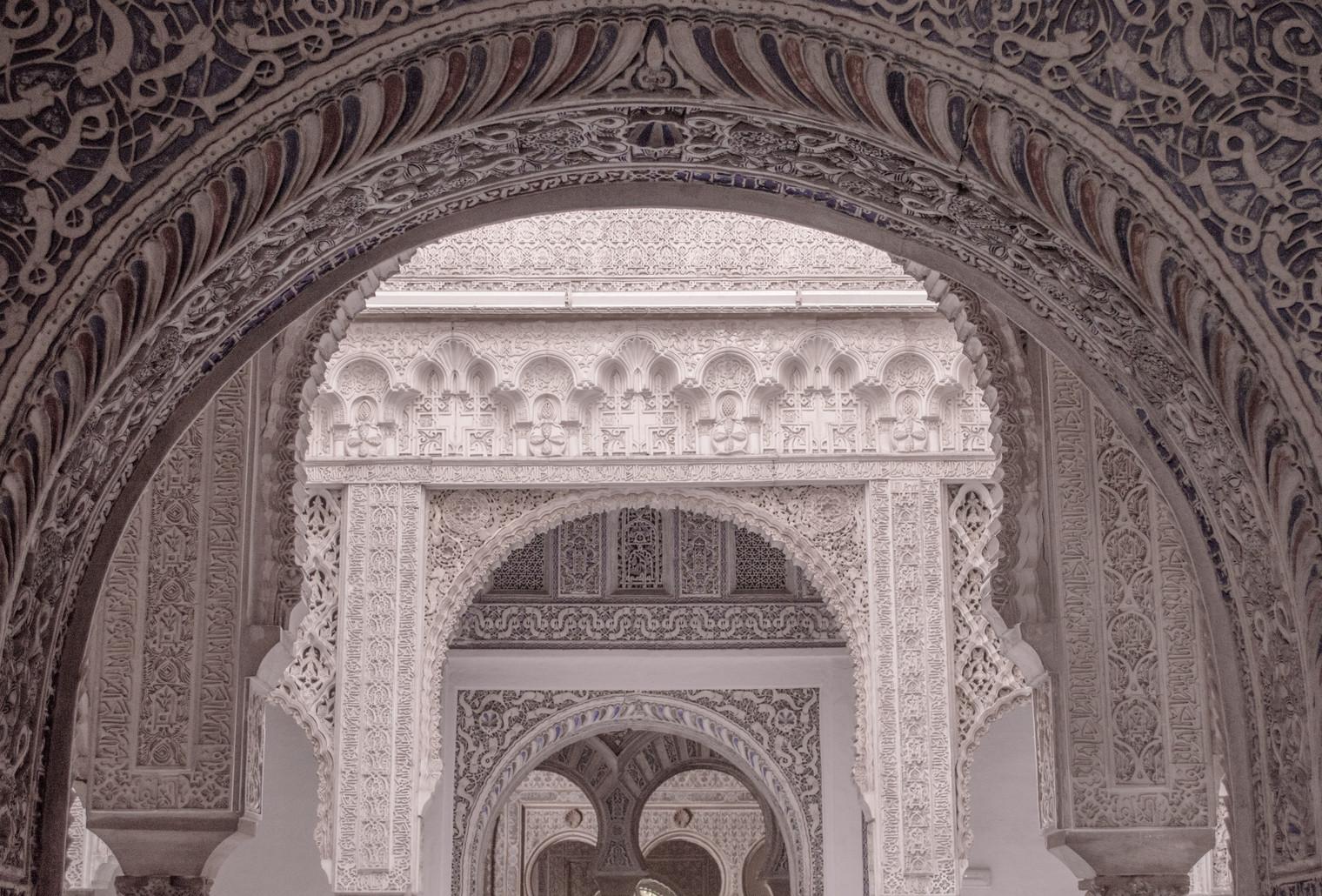 Doorways within doorways in the Alcazar of Seville.