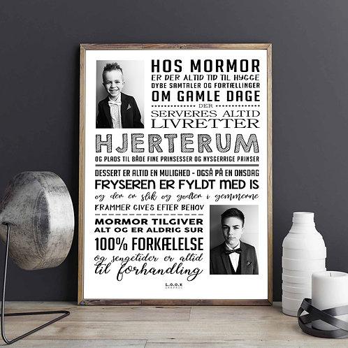 Hos MORMOR-plakat