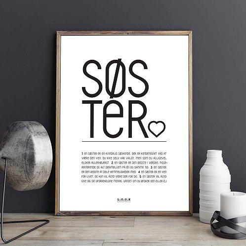 SØSTER-plakat med egne ord