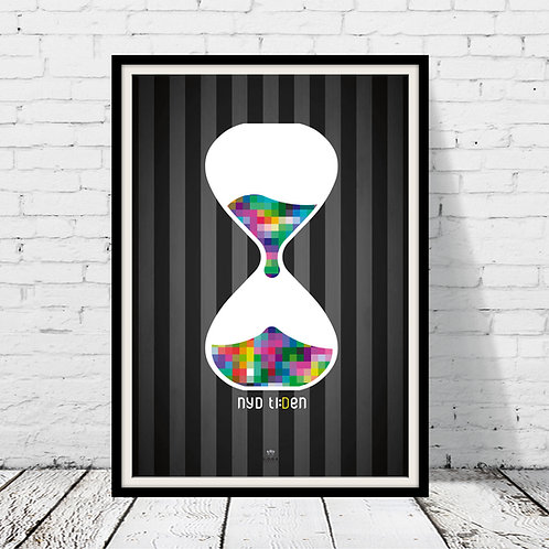 Timeglas-plakat