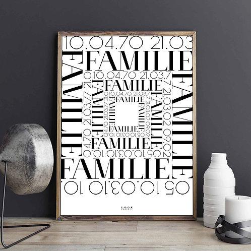Familie-plakat