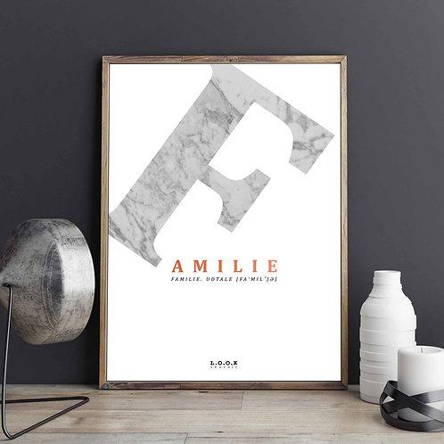 F-plakat med kobber