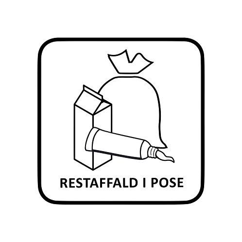 Restaffald-mærkat til skraldespand