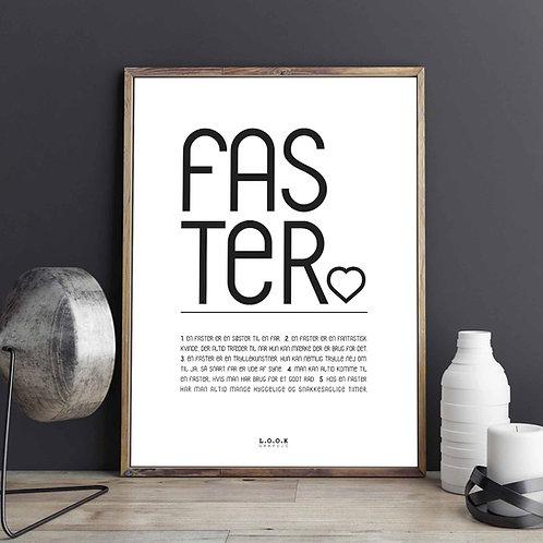 FASTER-plakat med egne ord