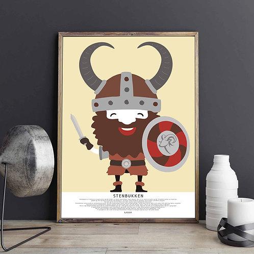STENBUKKEN Horoskop-plakat til ham