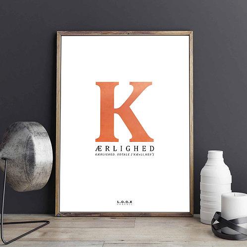 K-plakat med kobber