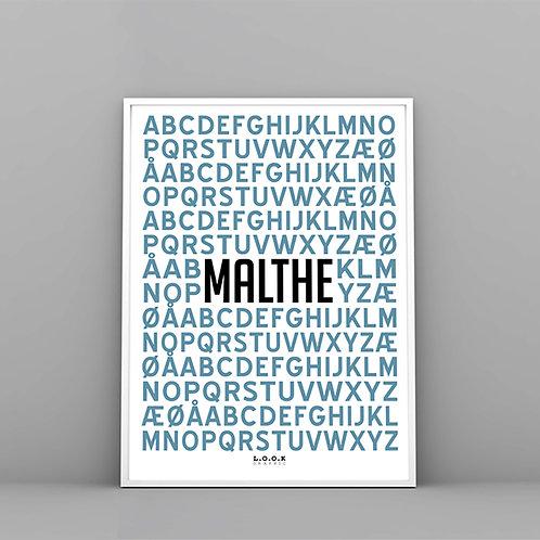 Alfabet plakat med navn