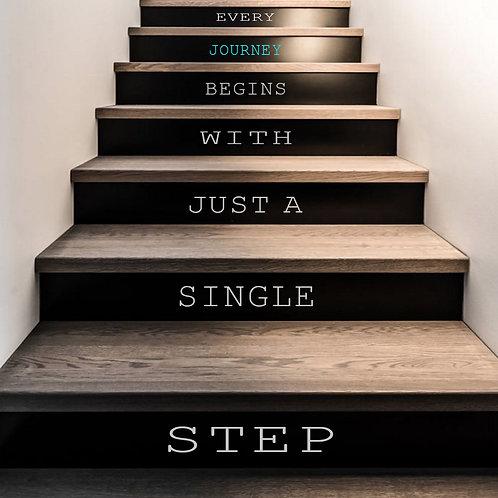 Folie-tekst til trappe