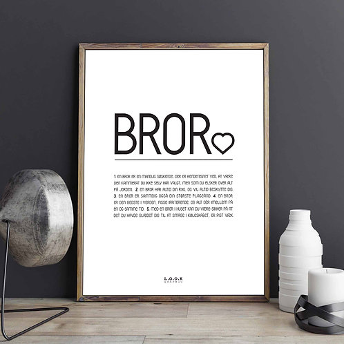 BROR-plakat med egne ord