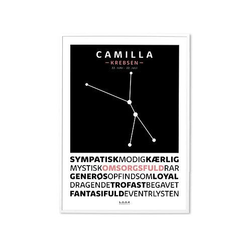 KREBSEN Horoskop-plakat med navn