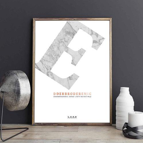 E-plakat med kobber