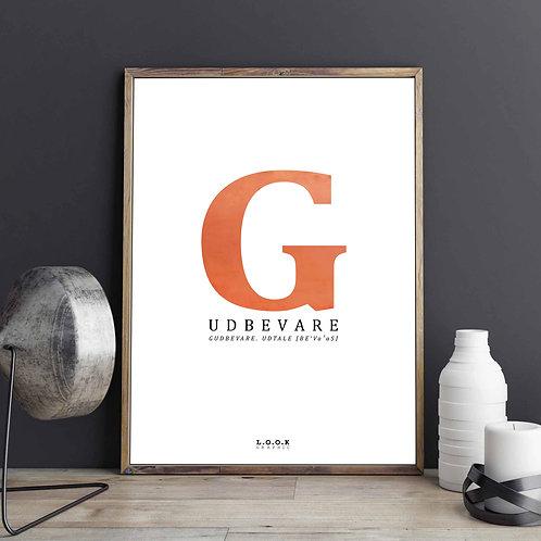 G-plakat med kobber