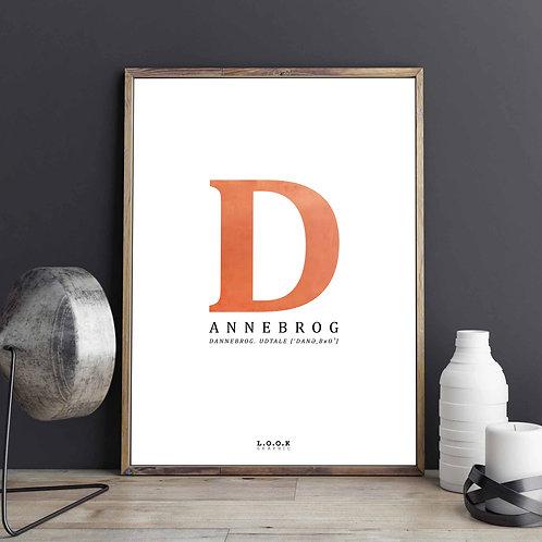 D-plakat med kobber