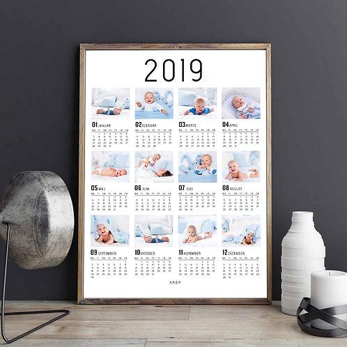 Kalender-plakat med billeder