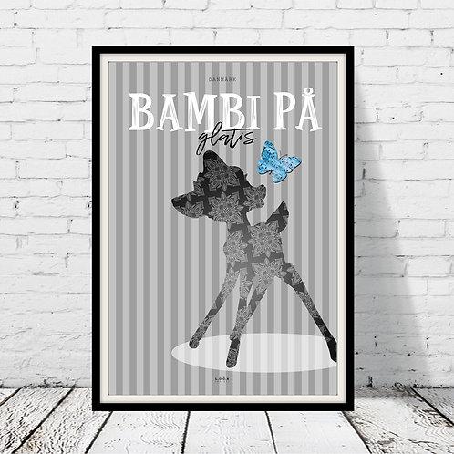 Bambi på glatis-plakat