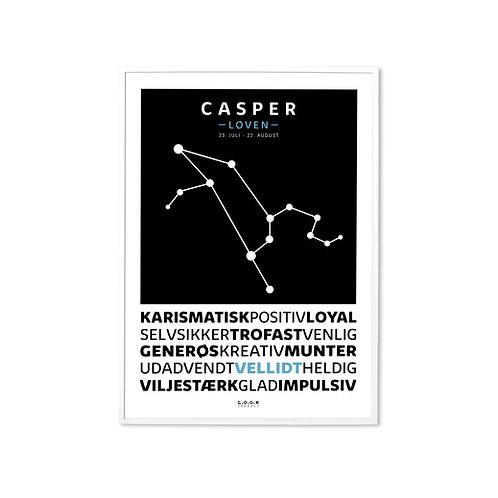 LØVEN Horoskop-plakat med navn